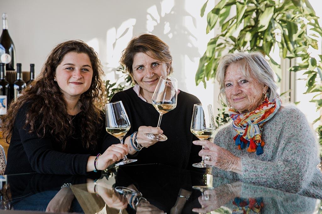 Francesca Poggio con madre e figlia